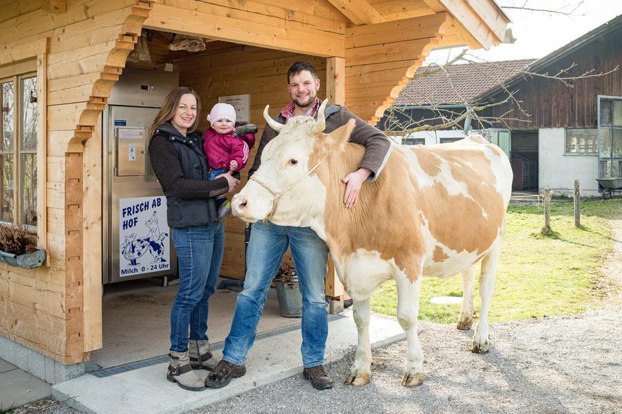 Frische Milch aus der Milchtankstelle